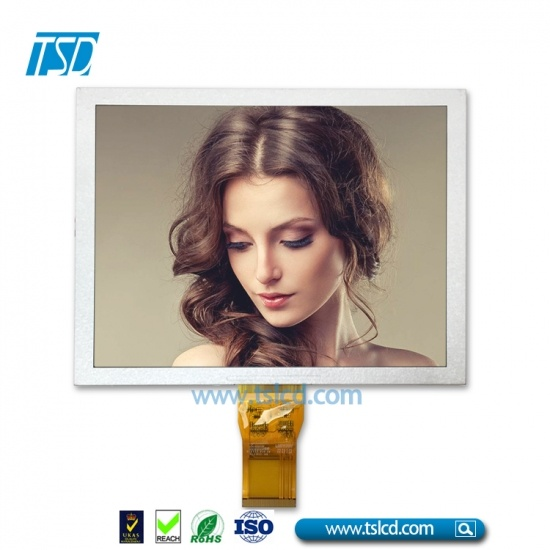 "8"" color TFT LCD with high brightness backlight"