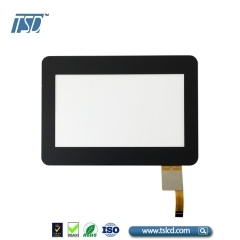 cover lens 4.3'' tft lcd display with CTP