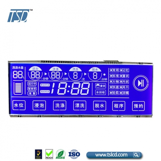 LCD panel for washing machine