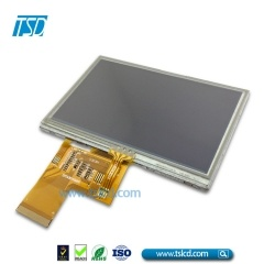 4.3 inch tft lcd display with resistive touch screen