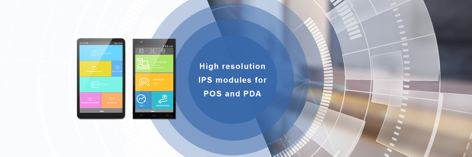High resolution HD IPS LCD TFT Modules for POS and PDA